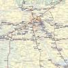 MAPA ŚCIENNA POLSKI – MAPA LINII KOLEJOWYCH 1:750 000