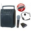 Nagłośnienie przenośne Sekaku WA-320/VXM-286TS + mikrofon do ręki, nagłowny
