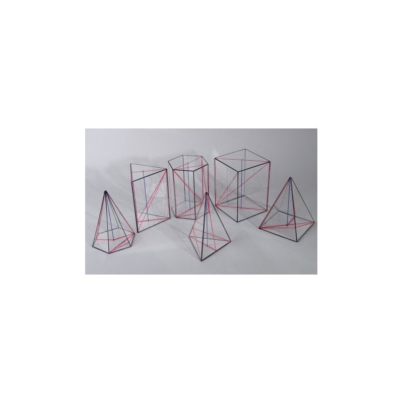 Bryły geometryczne - ostrosłupy i graniastosłupy