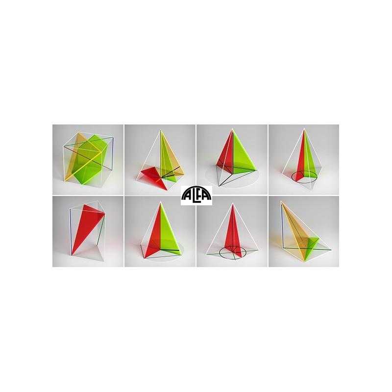 Bryły geometryczne - zestaw wielościanów (do stereometrii)