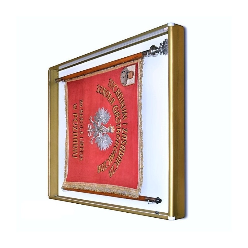Gablota na Sztandar 160x140x10 cm