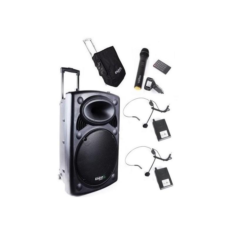 Nagłośnienie mobilne PORT-12 CALI UHF-BT 700W, TRZY MIKROFONY + POKROWIEC