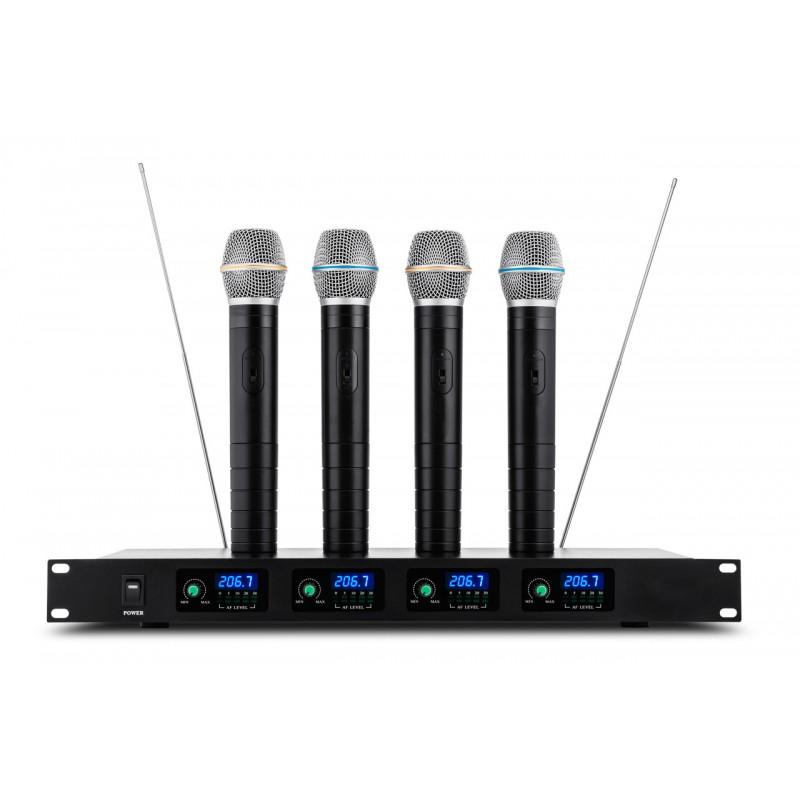 Mikrofony bezprzewodowe do ręki V704 - czterokanałowe