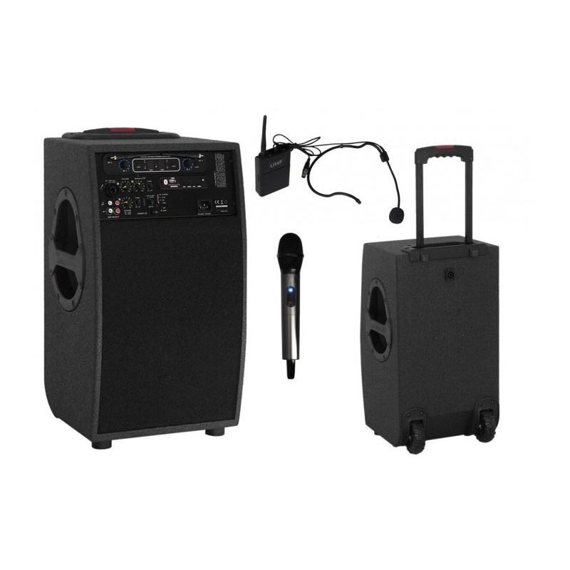 Przenośny zestaw nagłośnieniowy 900PS + dwa mikrofony bezprzewodowe