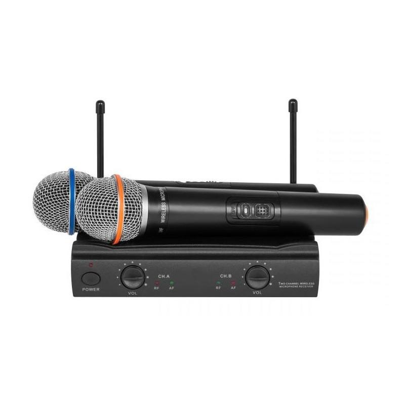 Dwa mikrofon bezprzewodowy  2 kanały UHF300