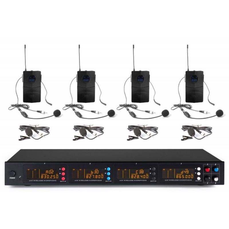 Zestaw mikrofonów bezprzewodowych UHF 4x bodypack P54B