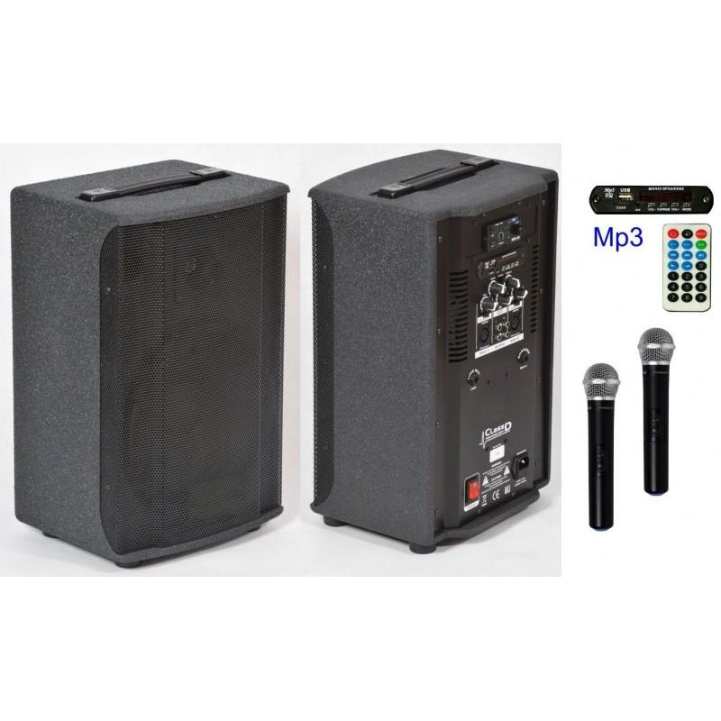 Zestaw nagłaśniający S300, 300Wat, 2 mikrofony UHF,
