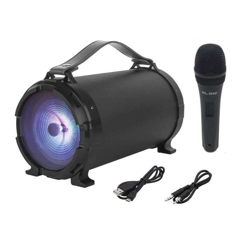 Głośnik Bluetooth karaoke BAZOOKA z mikrofonem