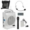 Nagłośnienie przenośne SQ-222, mikrofon do ręki, nagłowny, na klips, USB, Czytnik kart SD, wbudowany akumulator