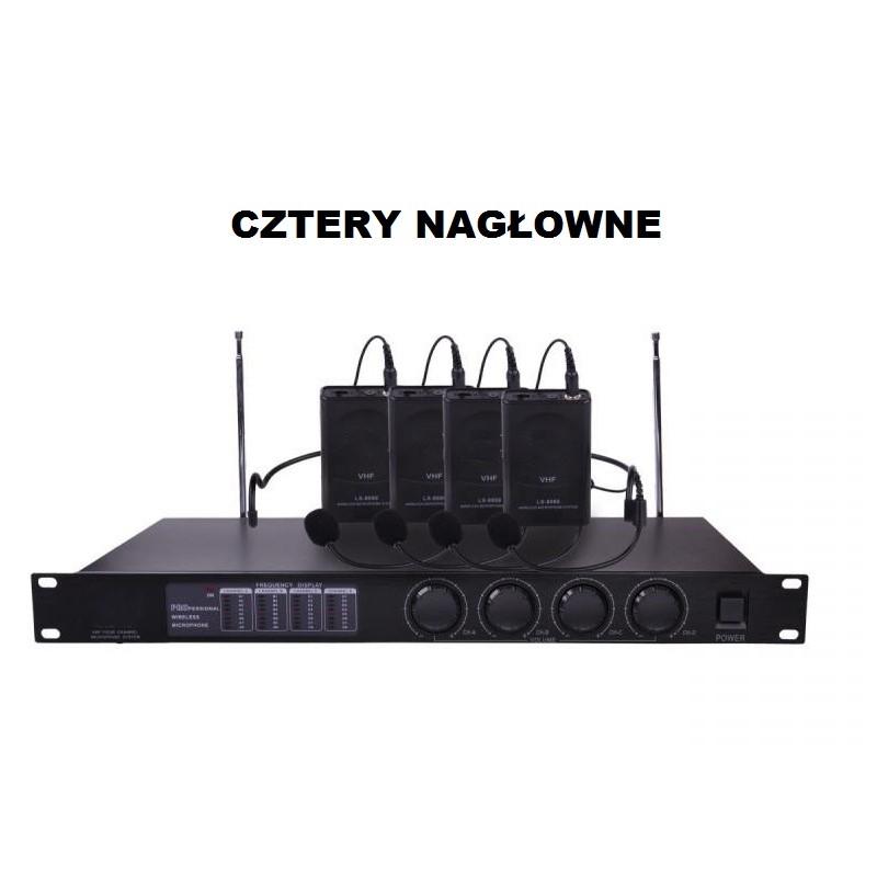Mikrofony bezprzewodowe LS - 4 nagłowne
