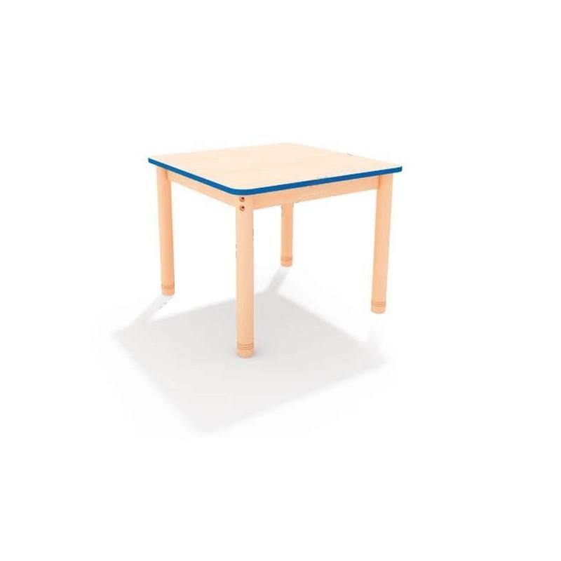 Stół kwadratowy z kolorowym obrzeżem