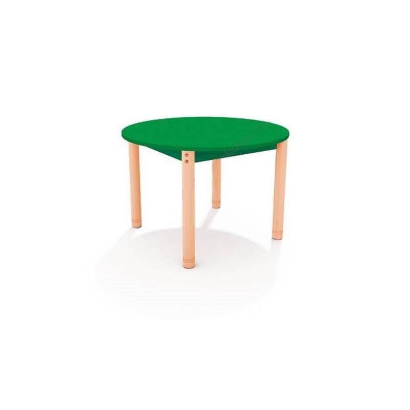 Stół okrągły z kolorowym blatem