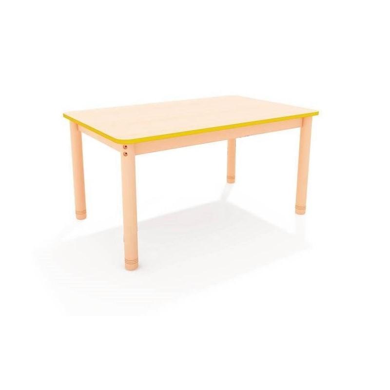 Stół prostokątny z kolorowym obrzeżem