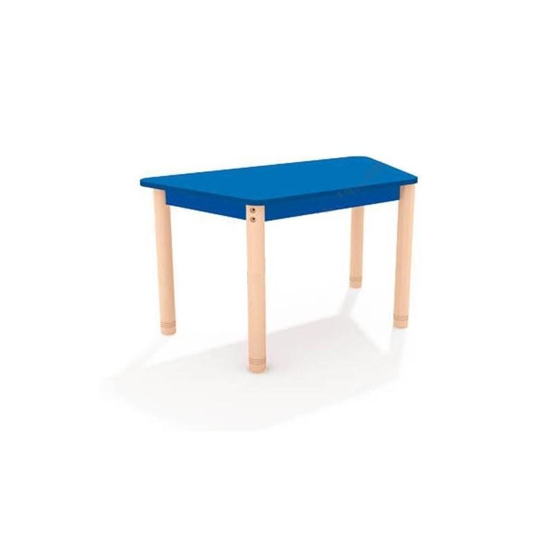 Stół trapezowy z kolorowym blatem