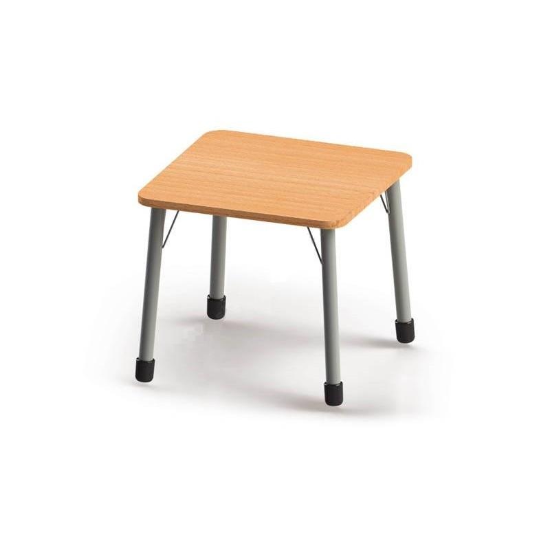 Stół kwadratowy (670x670) z metalowymi nogami. ROZMIAR 2