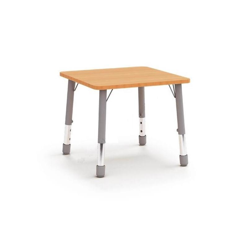 Stół kwadratowy (670x670) z metalowymi nogami z regulacją 1-2-3