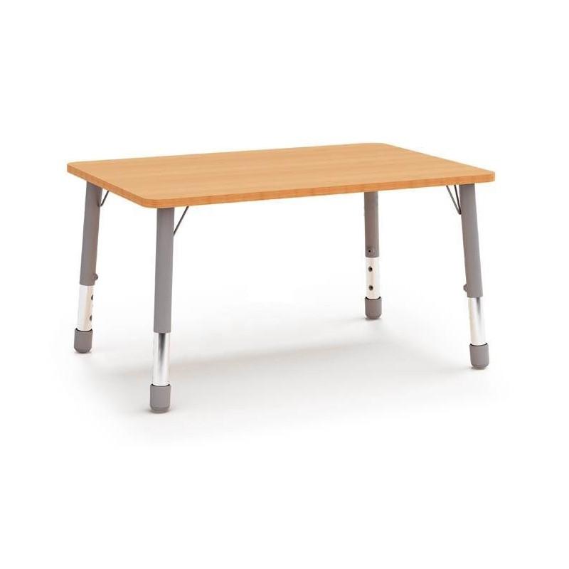 Stół prostokątny (1230x820) z metalowymi nogami z regulacją 3-4-5-6