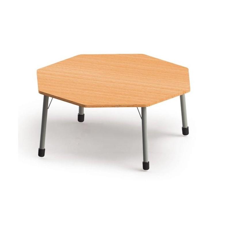 Stół ośmiokątny z metalowymi nogami. ROZMIAR 6