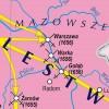MAPA ŚCIENNA HISTORYCZNA - RZECZPOSPOLITA W OKRESIE ROZBIORÓW 140x100cm