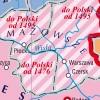 MAPA ŚCIENNA HISTORYCZNA - POLSKA I LITWA 1370-1505 140x100cm