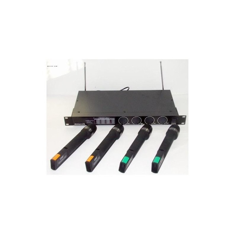 Mikrofony bezprzewodwe czterokanałowe LS - 4 mikrofony bezprzewodowe do ręki