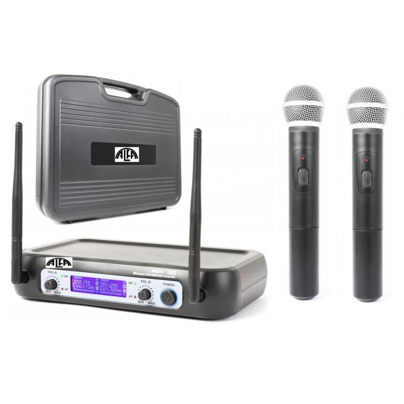 Mikrofony bezprzewodowe do ręki V-512+ walizka PCV