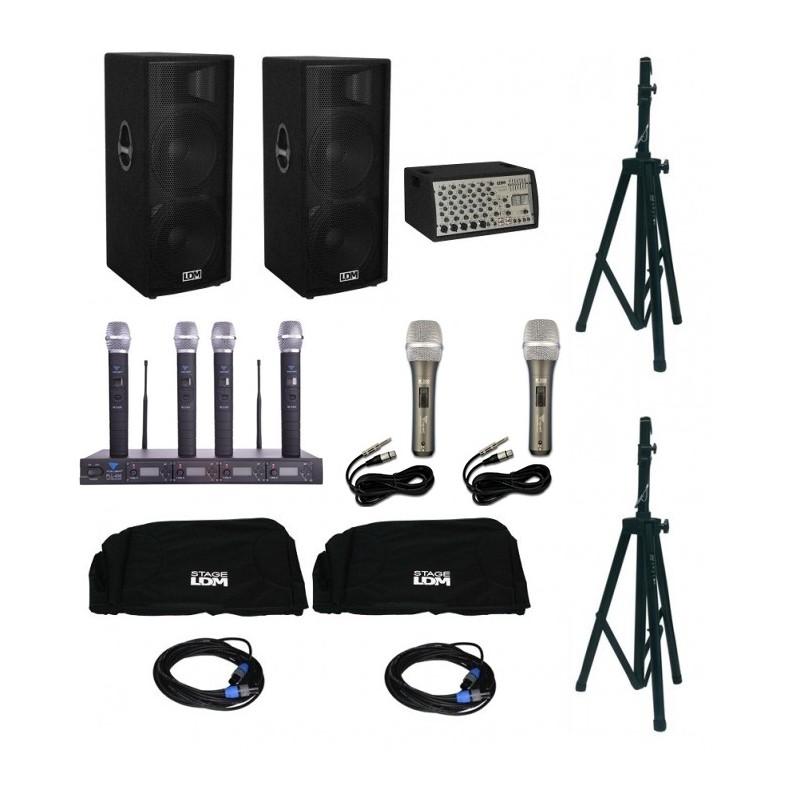 Zestaw nagłośnieniowy z mikrofonami