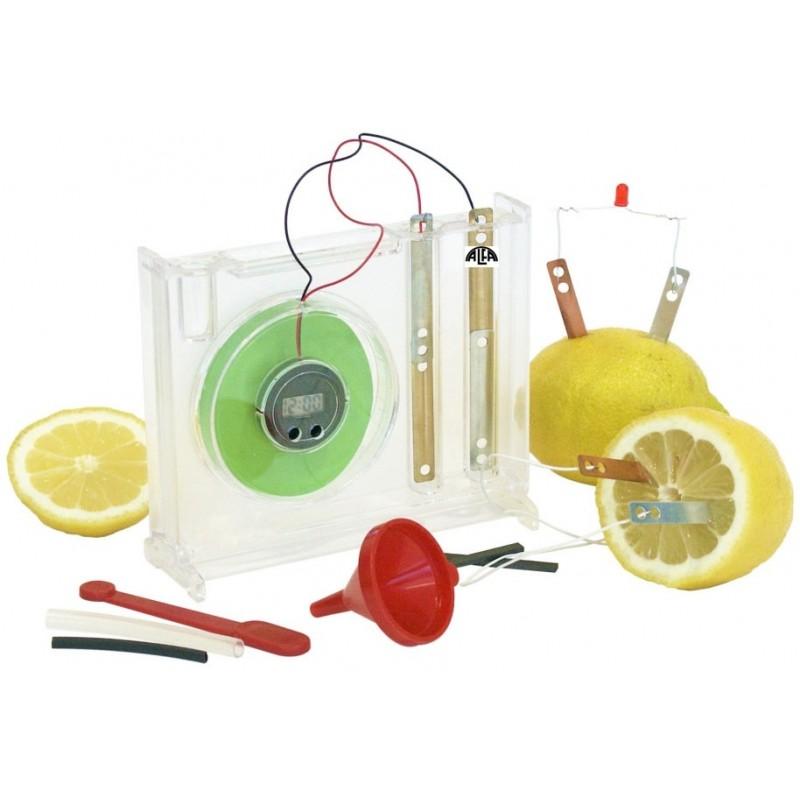 Zegar z baterią owocową