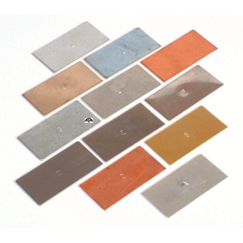 Typy metali 12 płytek - rodzaje metali